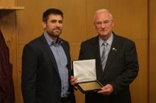 Präsident Martin Stump mit Christoph Wadl