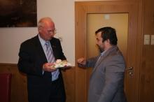 Christoph Wadl mit Selimov Seracidi, Trainer von Ybbs